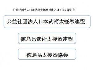 徳島太極拳協会組織図